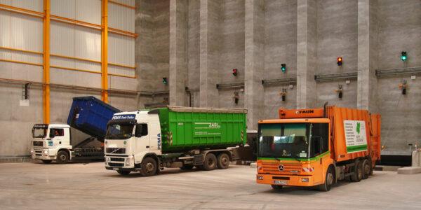 RABA Südwestthüringen: Anlieferung am Abfallbunker