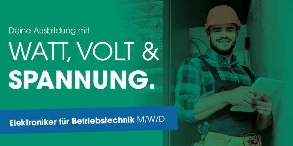 ZASt Ausbildungsangebot: Elektroniker für Betriebstechnik (Titelbild)