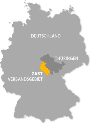 ZASt Verbandsgebiet (Deutschland-Karte)