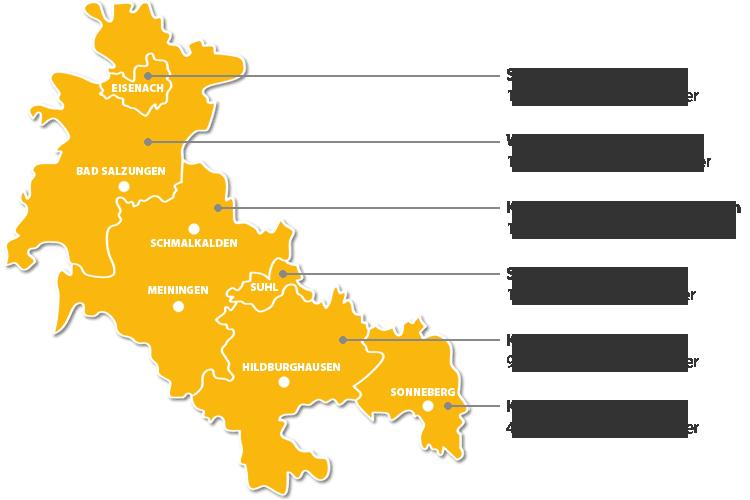 ZASt Verbandsgebiet: Südwestthüringen